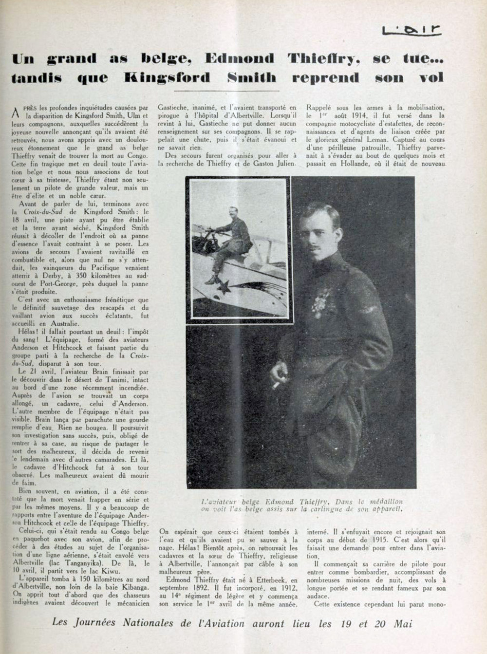 L'Air : revue mensuelle : organe de la Ligue nationale populaire de l'aviation. Mai 1929