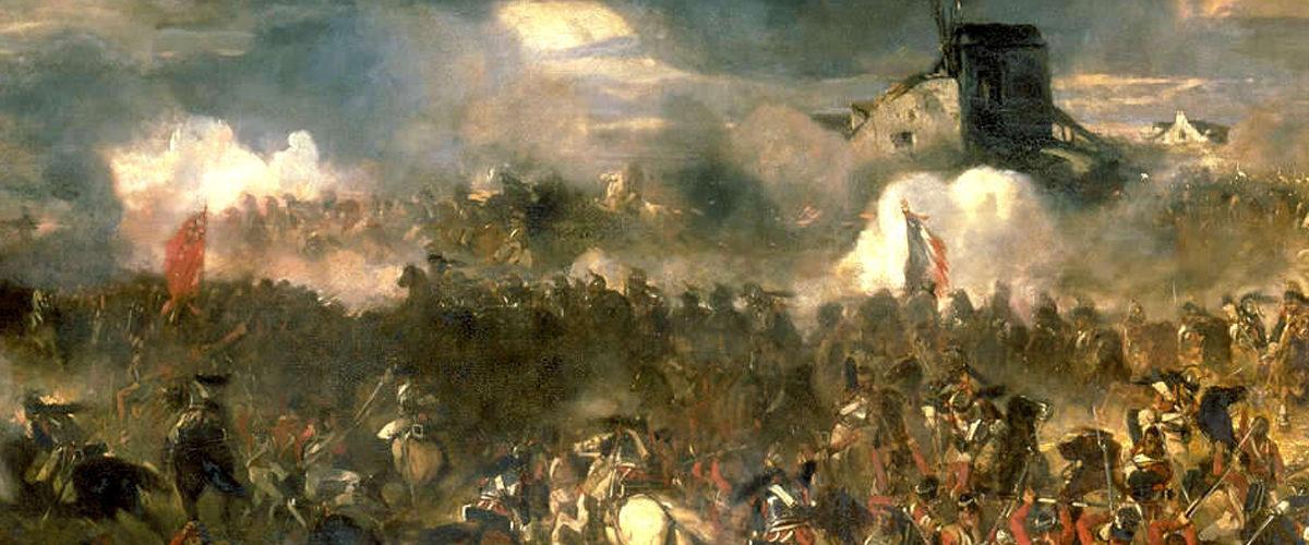 Napoléon en visite à Waterloo