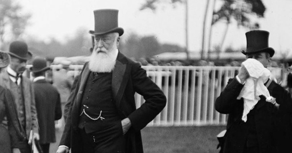 Le masque-à-barbe de Léopold II pour se protéger des microbes