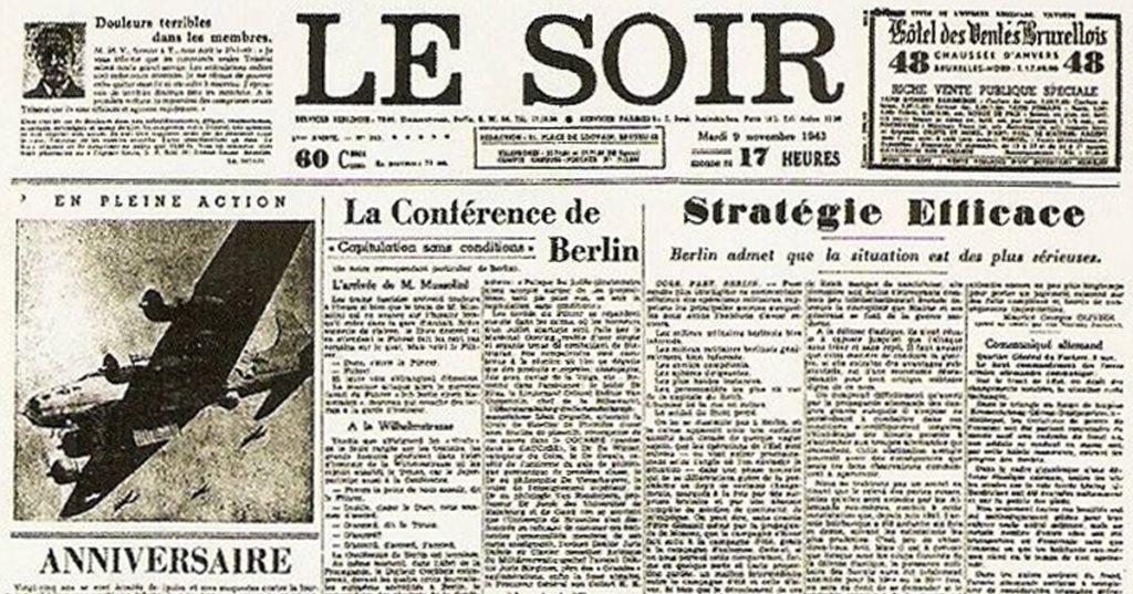 Bruxelles : le « Faux Soir » de la résistance belge qui a humilié les nazis en 1943